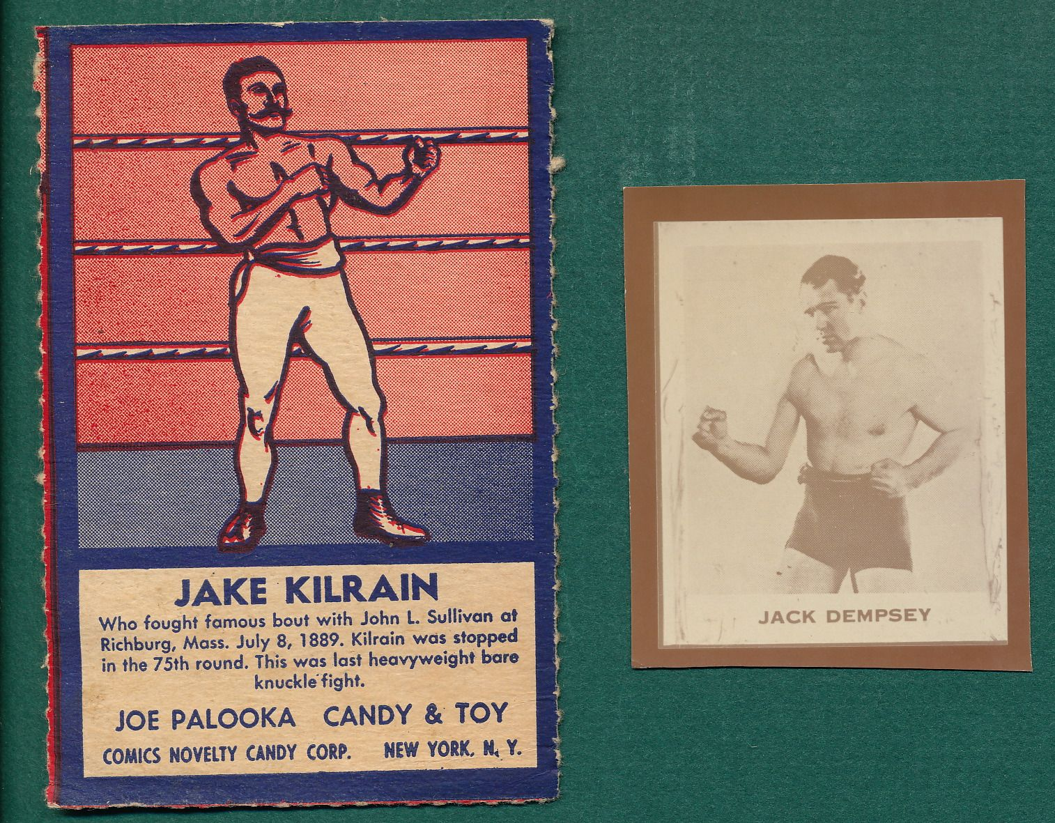 lot detail 1930s boxing ray o print jack dempsey u0026 1950s jake