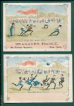 "1880s Baseball & Football Trade Cards ""Our Picnic"" (2) Card Lot W/ Krakauer Pianos"