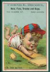 "1880s Baseball Trade Card ""Oh, Ise allite"", Little Mascot Series"