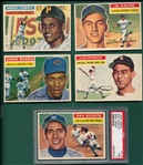 1956 Topps Baseball Partial Set (271/340) W/ Clemente *Crease Free*