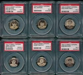 1910-12 P2 Sweet Caporal Pins Lot of (6) PSA W/ Rucker