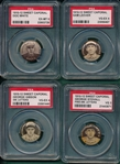 1910-12 P2 Sweet Caporal Pins Lot of (4) PSA W/ White