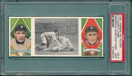 1912 T202 A Desperate Slide At Third, OLeary/Cobb, Hassan Cigarettes PSA 5 MK