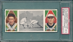 1912 T202 Knight Catches a Runner, Knight/ Johnson, PSA 6