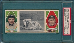 1912 T202 A Desperate Slide For Third OLeary/ Ty Cobb Hassan Cigarettes PSA 4