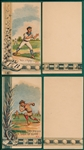 "1880s Trade Card ""Put it Here"" & ""Two Out, Two Strikes & Three on Base"", Scorecard, Lot of (2)"