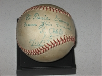 Ty Cobb Autographed Baseball, Certified JSA