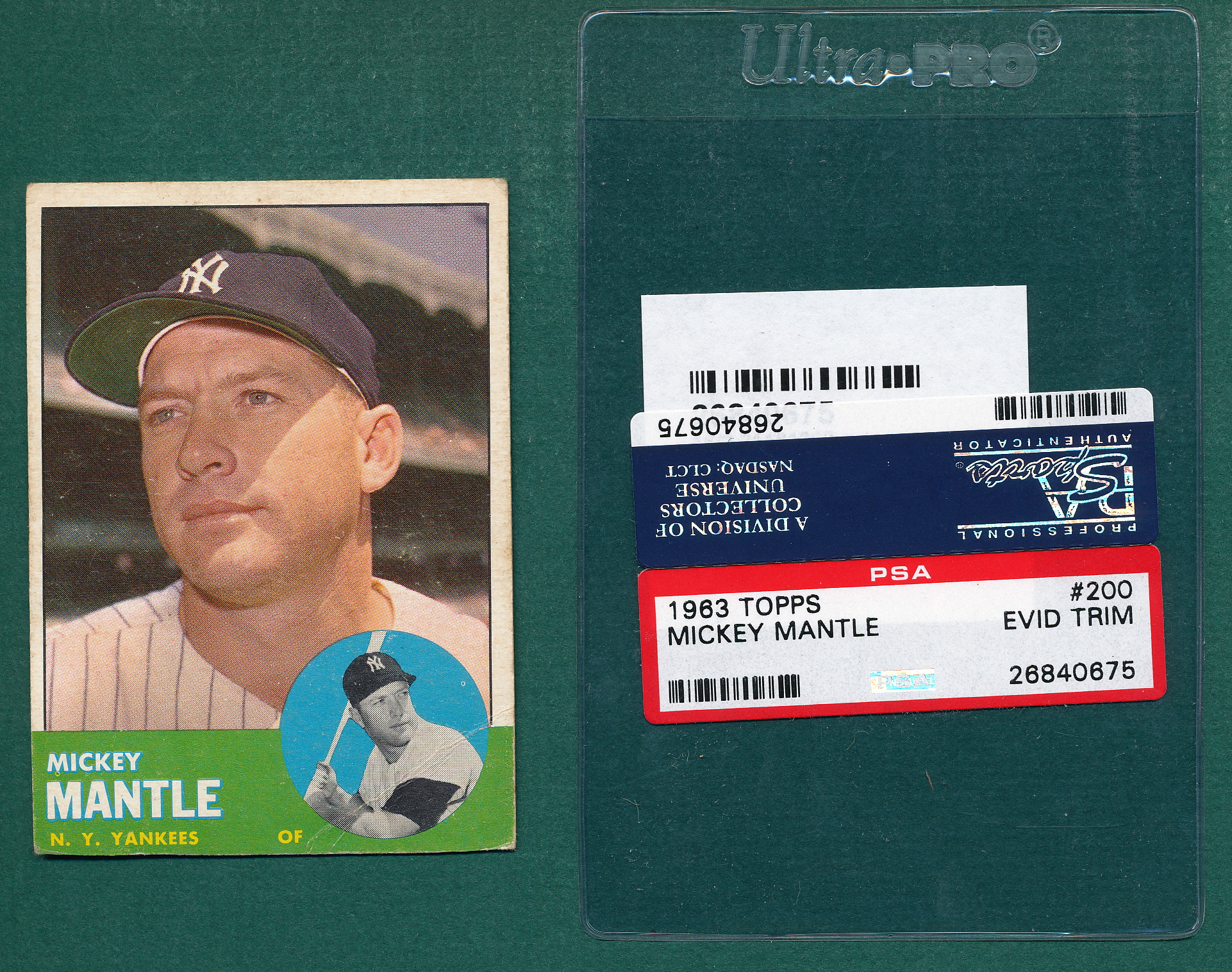 Lot Detail 1963 Topps 200 Mickey Mantle