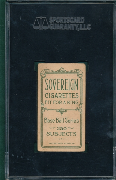 1909-1911 T206 Willis, Portrait, Sovereign Cigarettes SGC 40