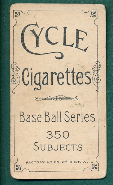 1909-1911 T206 Slagle Cycle Caporal Cigarettes