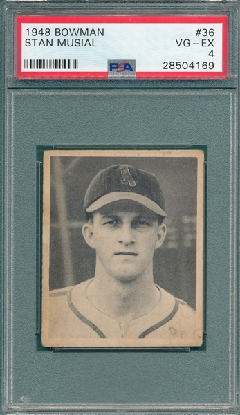 1948 Bowman #36 Stan Musial PSA 4 *Rookie*