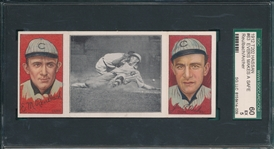 1912 T202 Evers Makes a Safe Slide, Reulbach/Archer, Hassan Cigarettes SGC 60