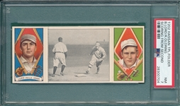 1912 T202 Scoring From Second, Lord/Oldring, Hassan Cigarettes, PSA 7 *Only 3 Graded Higher*