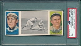 1912 T202 Lobert Almost Caught, Mattern/Kling, Hassan Cigarettes, PSA 7 *Only 3 Graded Higher*
