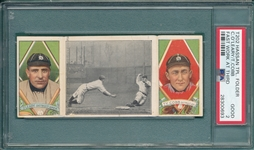 1912 T202 Fast Work At Third, OLeary/Ty Cobb, Hassan Cigarettes, PSA 2