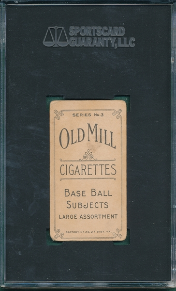 1910 T210-3 Barenkemp Old Mill Cigarettes SGC 40