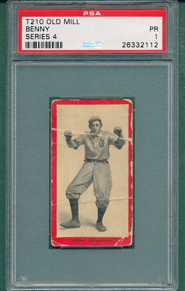 1910 T210-4 Benny Old Mill Cigarettes PSA 1