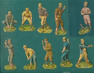 1888 R & S Artistic Baseball Die Cuts Complete Set (10)