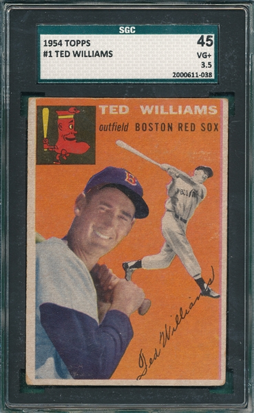 1954 Topps #1 Ted Williams SGC 45