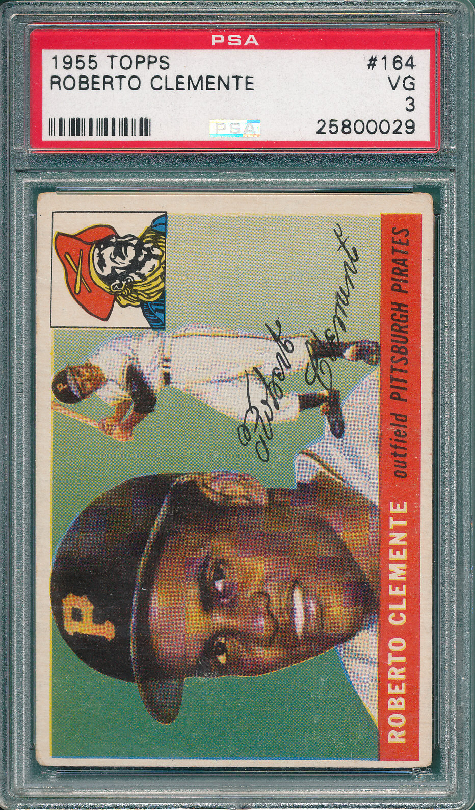 Lot Detail 1955 Topps 164 Roberto Clemente Psa 3 Rookie