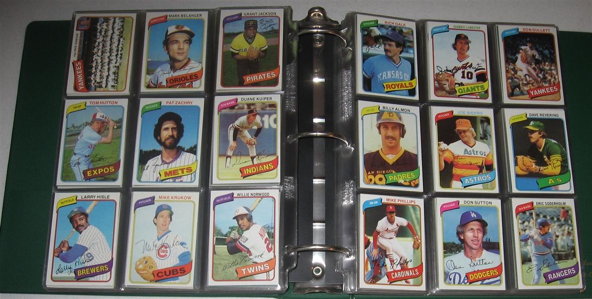 Lot Detail 1980 Topps Baseball Complete Set 726 W
