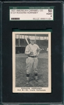 1921 E121-80 Rogers Hornsby American Caramel Co. SGC 50