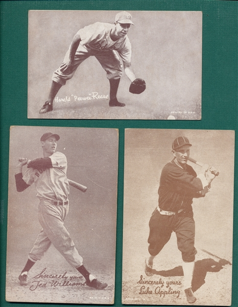 1939 Exhibits Salutations Lot of (9) W/ Ted Williams