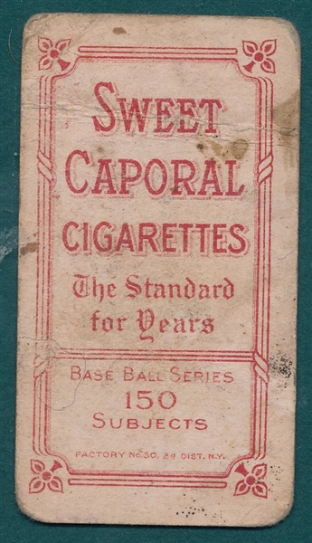 1909-1911 T206 Willis, Portrait, Sweet Caporal Cigarettes