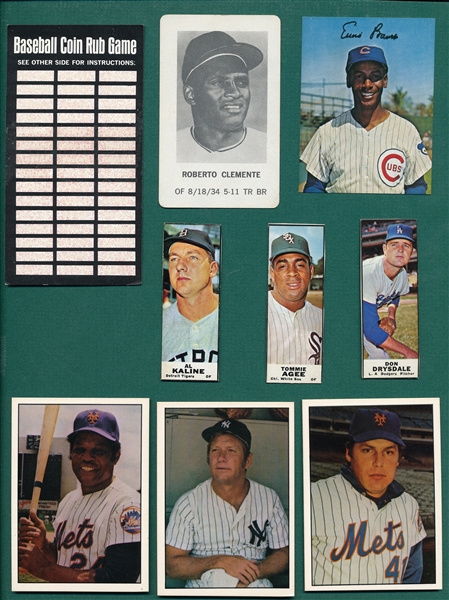 1968-75 Baseball Lot of (9) W/ Mantle