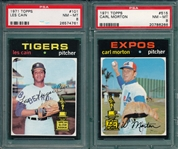 1971 Topps #101 Cain & #515 Morton, Lot of (2), PSA 8 *Trophy Rookie*