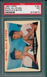 1960 Topps #160 Rival All Stars W/ Mantle, PSA 7