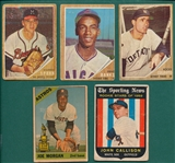 1959-66 Venezuelan Topps Lot of (5) W Spahn & Banks