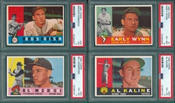 1960 Topps Lot of (4) HOFers W/ #1 Wynn PSA