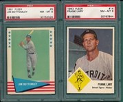 1961 Fleer #9 Bottomley & 1963 Fleer #14 Lary, Lot of (2) PSA 8