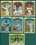 1972 Topps Lot of (1580) W/ Over 80 HOFers