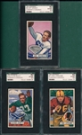 1951 Bowman FB #71 Limpsomb, #80 Weiner & #120 Scott, Lot of (3) SGC 82
