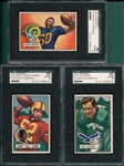 1951 Bowman FB Lot of (5) W/ #72 Gilmer SGC 80
