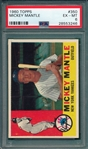 1960 Topps #350 Mickey Mantle PSA 6