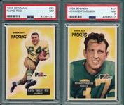 1955 Bowman FB #57 Ferguson & #95 Reid, Lot of (2) PSA 7