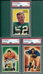 1955 Bowman FB #23 Thompson, #51 Krouse & #108 Robinson, Lot of (3) PSA 7