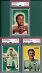1955 Bowman FB #98 Massey, #115 Thomason & #137 Rote, Lot of (3) PSA 6