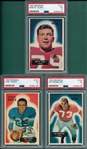 1955 Bowman FB #101 St. Clair #103 Taseff & #104 Nomellini, Lot of (3) PSA