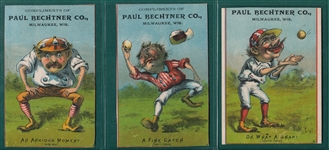 1880s Paul Bechter Co. Trade Cards, Lot of (7)
