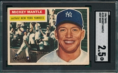 1956 Topps #135 Mickey Mantle SGC 2.5 *Gray*