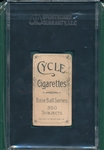 1909-1911 T206 Butler Cycle Cigarettes SGC 35