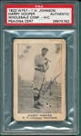 1922 W757-1 Harry Hooper, Henry Johnson, PSA Authentic *Autographed*