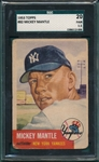 1953 Topps #82 Mickey Mantle SGC 20